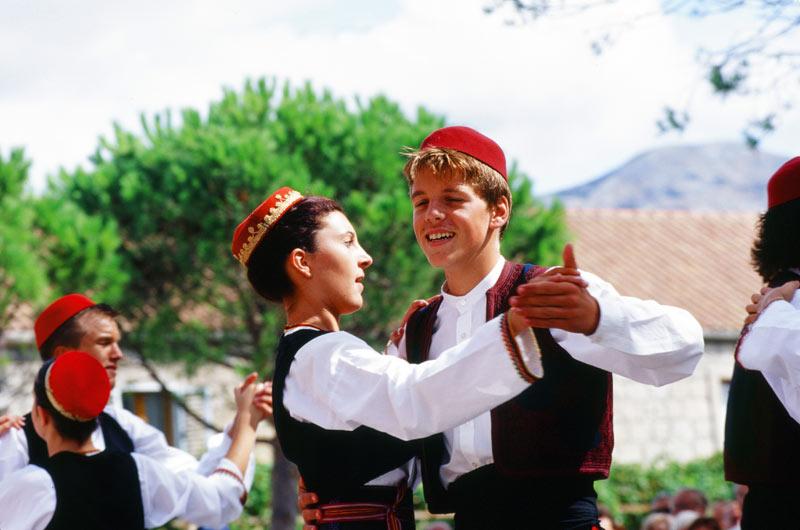 Dancers at a Croatian festival. Photo credit: Peter Guttman