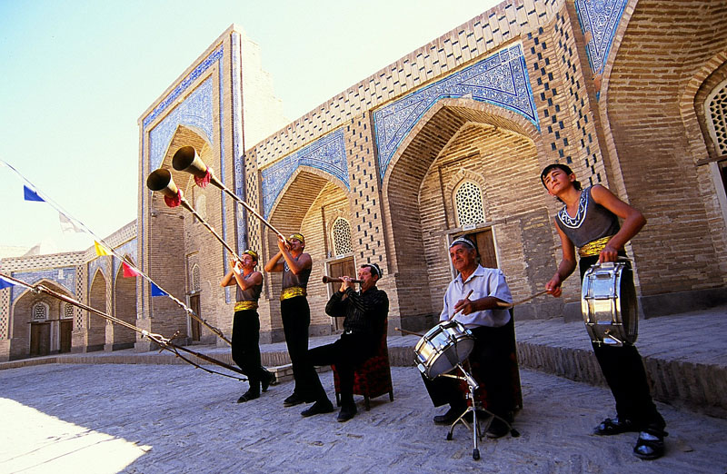 Navruz celebrations at an Uzbek madrassah. Photo credit: Peter Guttman