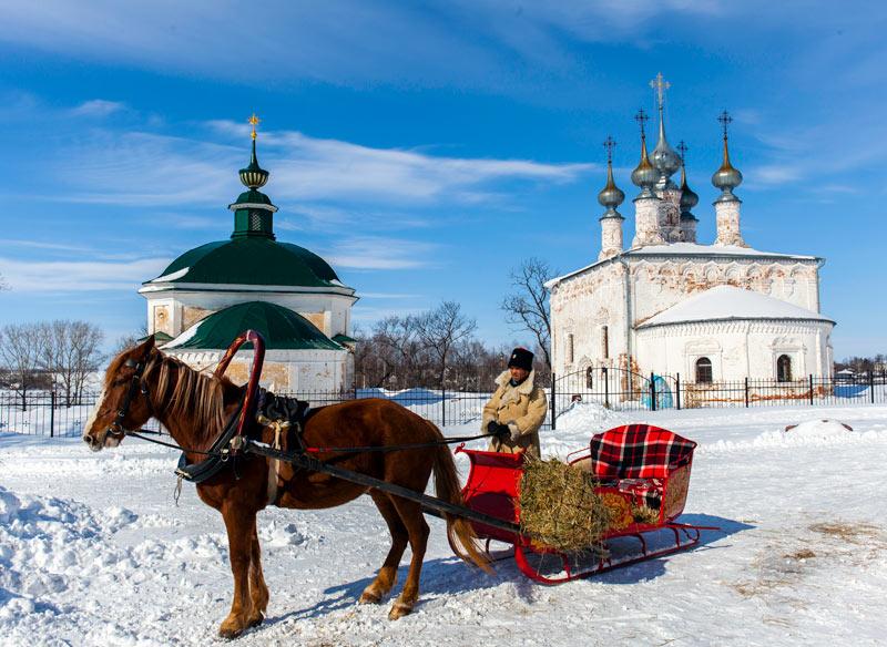 A sleigh ride through a Russian winter wonder land. Photo credit: Jonathan Irish