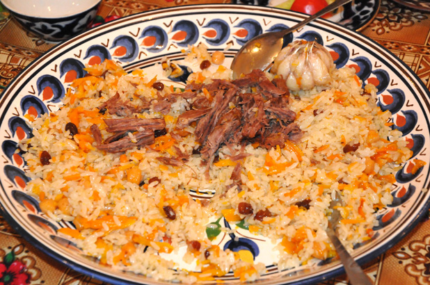 Plov – and all its variations – is the main course at Navruz gatherings. Photo credit: Russ Cmolik & Ellen Cmolik