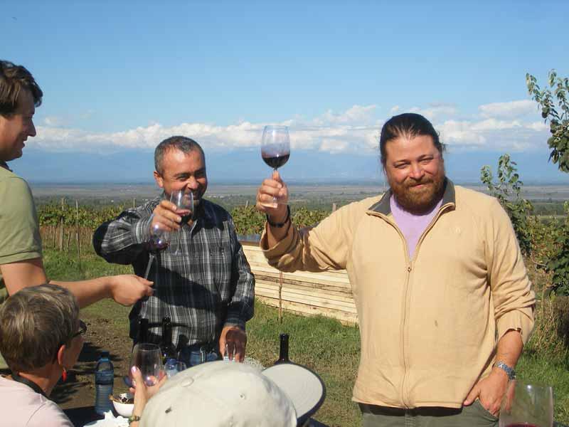 A toast in Signagi, Georgia. Photo credit: Mariana Noble