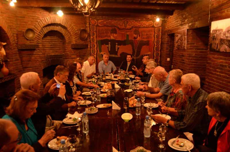 A performance at the Georgian Table. Photo credit: Peter Guttman