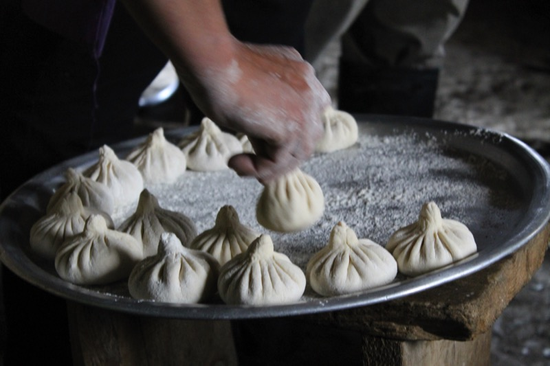 Khinkali, made in Tusheti for festivals. Photo credit: Shota Lagazidze