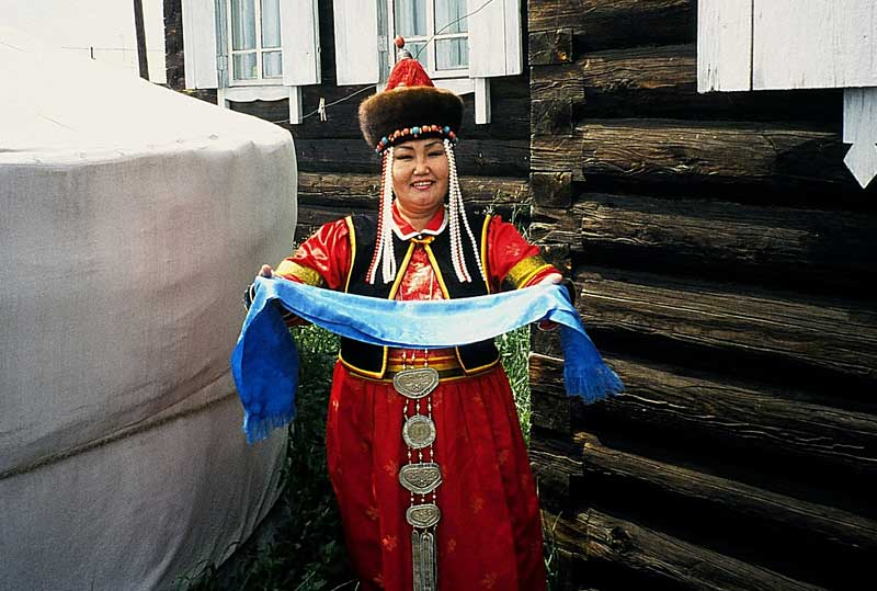 A Buryat welcome. Photo credit: Michel Behar