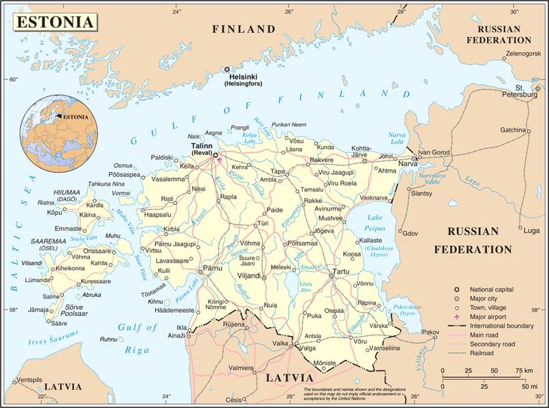 Estonia road map.