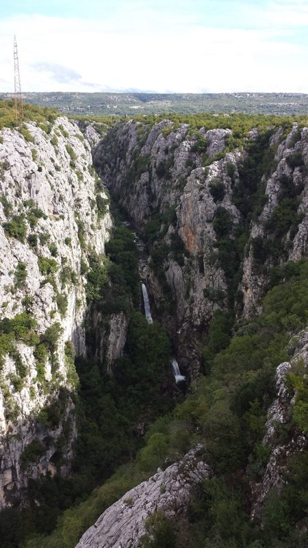 A view of the Cetina River Canyon from the entrance to the hiking trail. Photo credit: Lisa Peterson