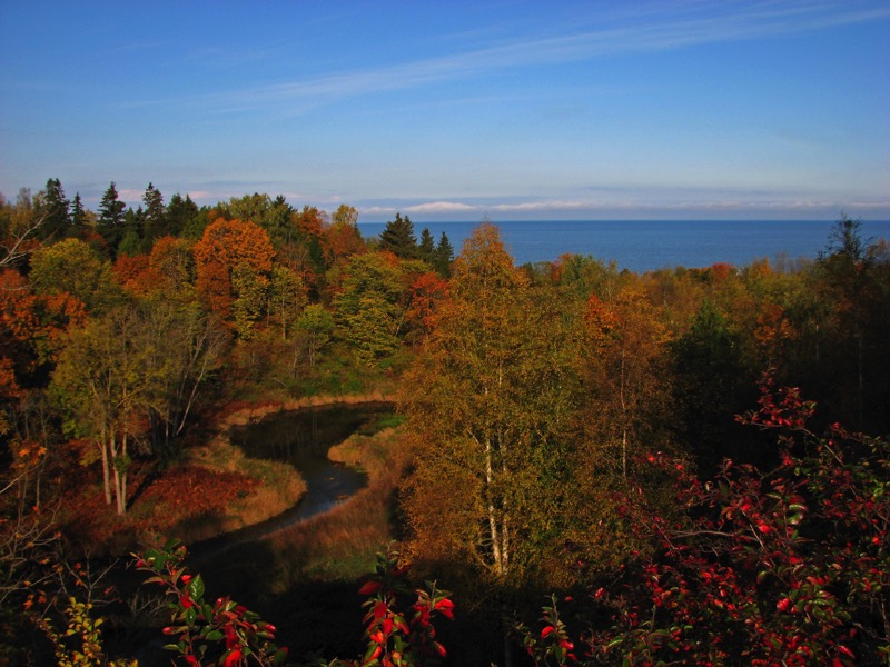 Autumn colors in the town of Toila on the Gulf of Finland.  Photo credit: Estonian Tourist Board