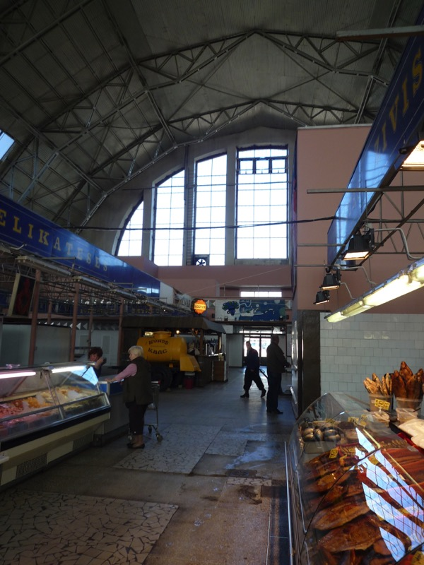 An early morning scene inside one of the huge halls of Riga's Central Market. Photo credit: Jurate Terleckaite