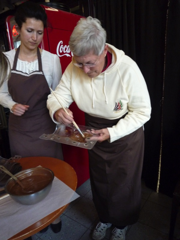 Learning how to make chocolate the old-fashioned way. Photo credit: Jurate Terleckaite
