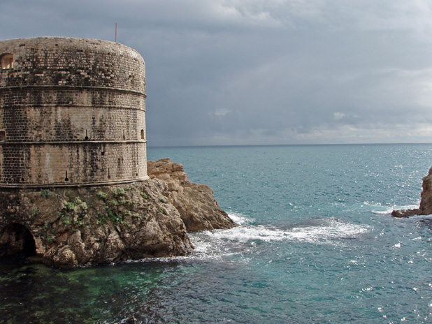 Where Dubrovnik meets the Adriatic Sea. Photo credit: Lisa Peterson