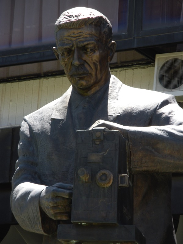 A statue of one of Bitola's hometown heroes, Milton Manaki; Milton and his brother, Yanaki, are credited with being the first filmmakers in the Balkan Peninsula. Photo credit: Elizabeth Raible
