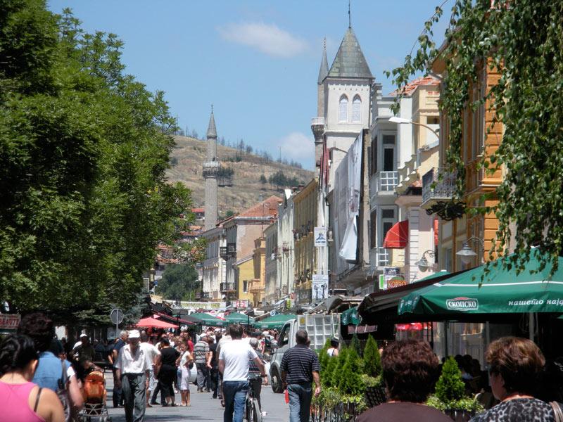 Local life along Sirok Sokak Street in Bitola, Macedonia. Photo credit: Elizabeth Raible