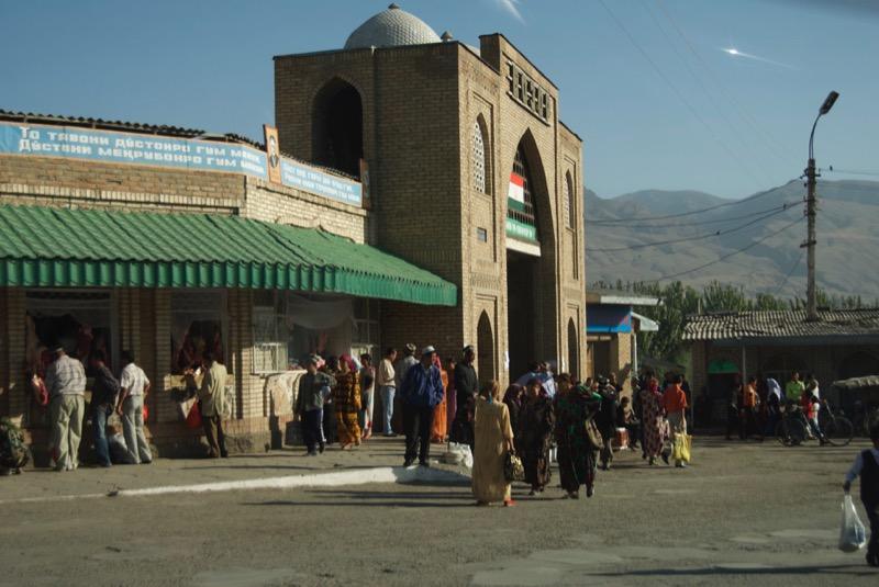 Locals heading into the bazaar.  Photo: James Carnehan