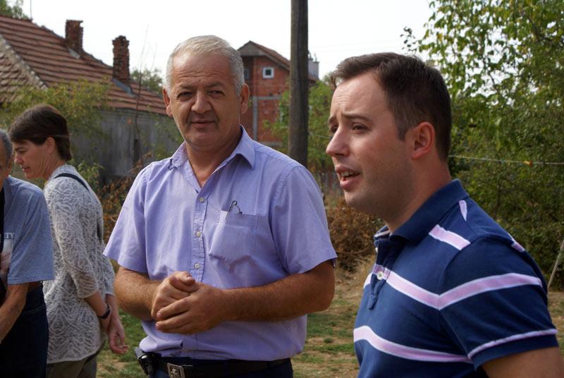 Meeting locals in Pristina, Kosovo. Photo credit: Joanna Millick