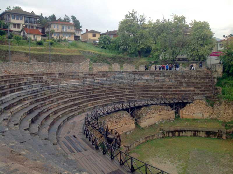 Built around 200 BC, Ohrid's amphitheater is today the only surviving ancient Greek theater in Macedonia. Photo credit: Michel Behar
