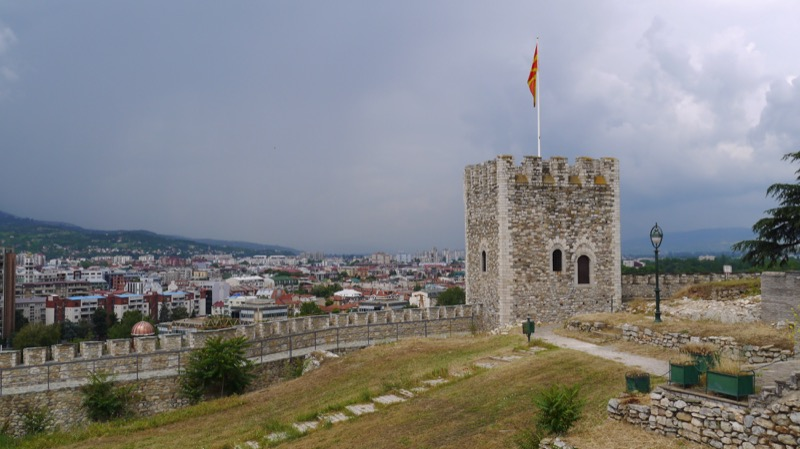 Occupying the highest point in the Old Town, Skopje's 6th-century fortress is a great spot to capture panoramic city views. Photo credit: Martin Klimenta