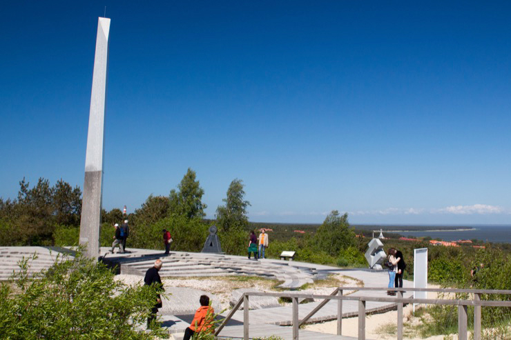 Monument on Lithuania's Curonian Spit. Photo credit: Kestutis Ambrozaitis