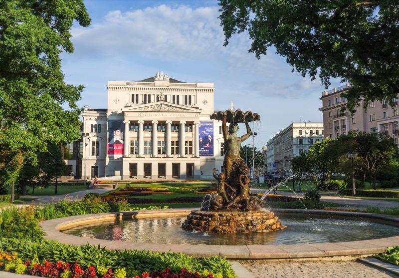 Riga's gleaming marble Opera House. Photo credit: Kestutis Ambrozaitis
