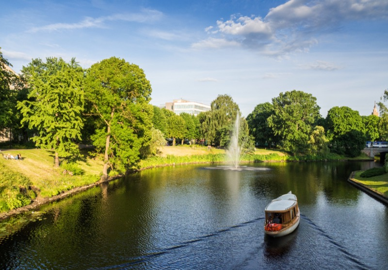 An afternoon boat ride on the Riga Canal. Photo credit: Kestutis Ambrozaitis