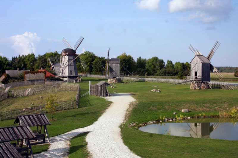 Angla windmills of Saaremaa, Estonia.   Photo credit: Alicija Skinder