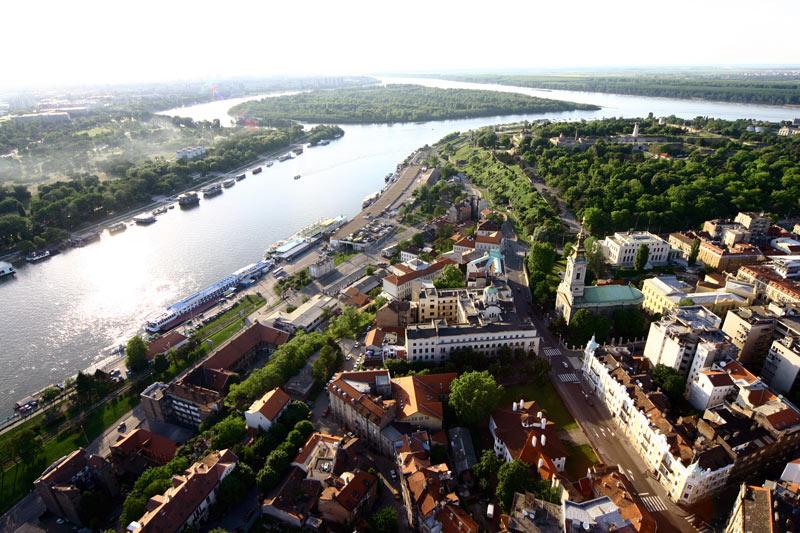 A birds's-eye view of Belgrade, the capital of Serbia. Photo credit: Dragan Bosnic, Branko Jovanovic, Srdjan Veljovic, NTOS archive