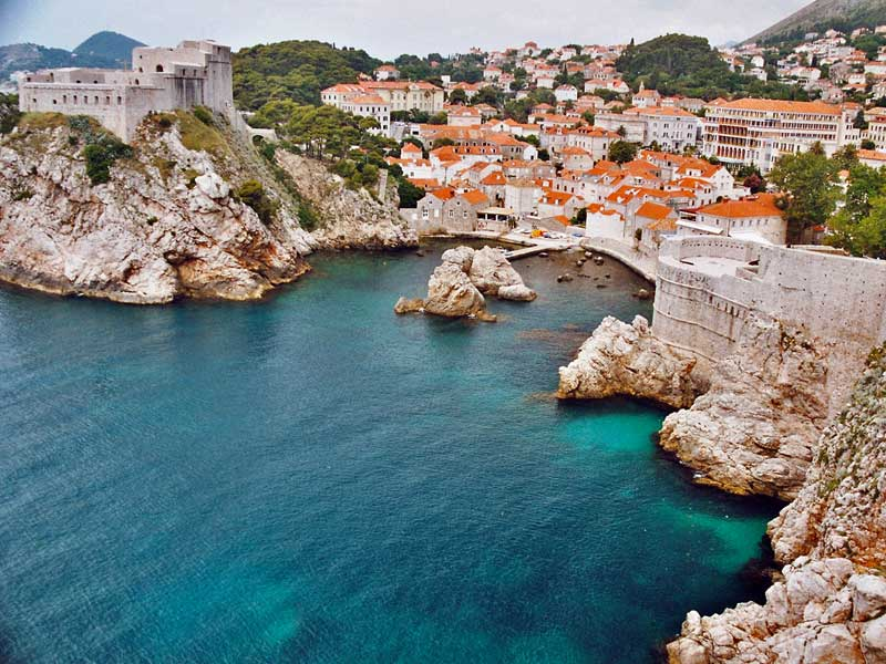 View of Dubrovnik's bay in the Old Town. Photo credit: Martin Klimenta