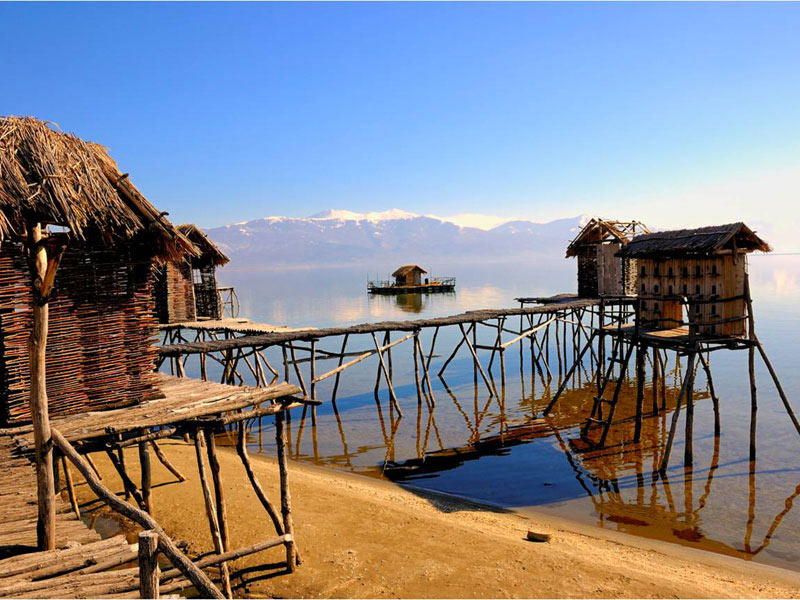 Ohrid's Museum on Water is a modern-day reconstruction of an ancient prehistoric settlement, whose foundations were first discovered beneath the lake's waters in 1997