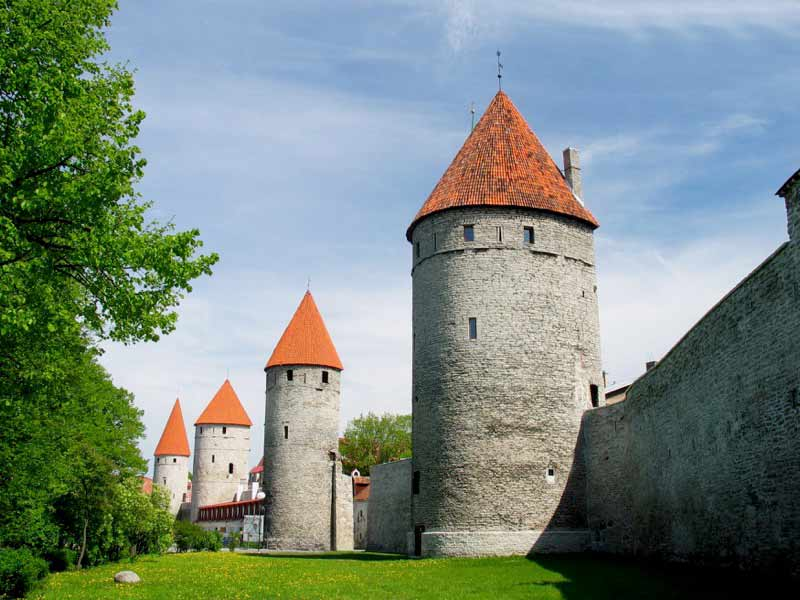 Tallinn's first medieval walls and towers were built in the 13th century.   Photo credit: Jaak Nilson