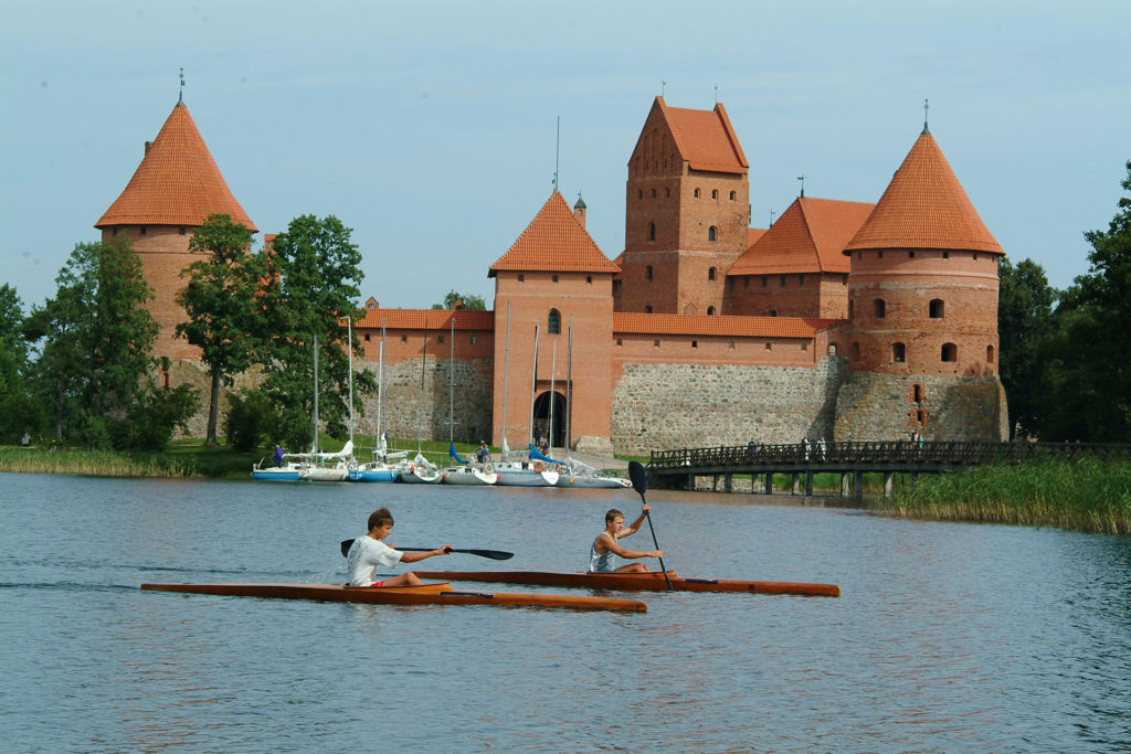 14th-century Trakai Castle, built on an island in Lake Galve. Photo credit: Lithuanian State Department of Tourism