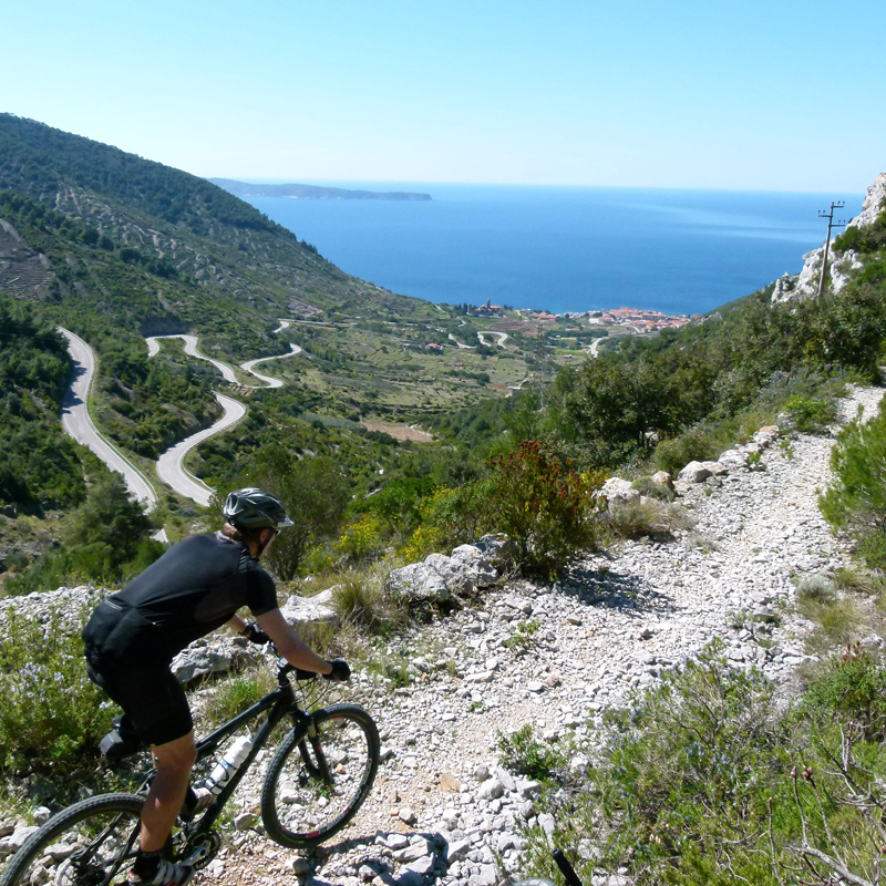 Catch scenic views (and get your heart pumping) as you bike through Split's spectacular karst mountains. Photo credit: Croatian Tourist Board / Hrvoje Sepic
