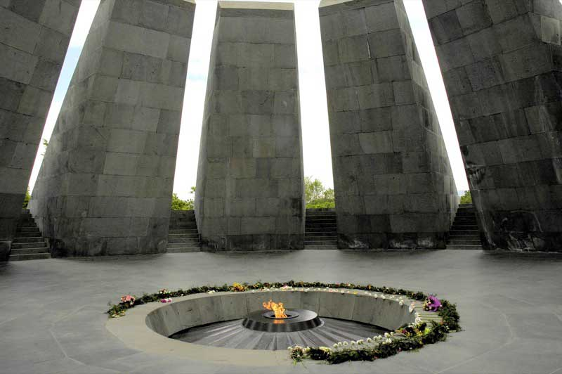 The eternal flame at the Armenian Genocide Memorial in Yerevan. Photo credit: Ana Filonov