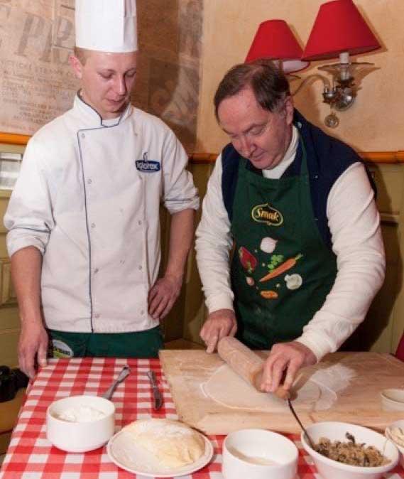 Learning how to make pierogi. Photo credit: David W Allen