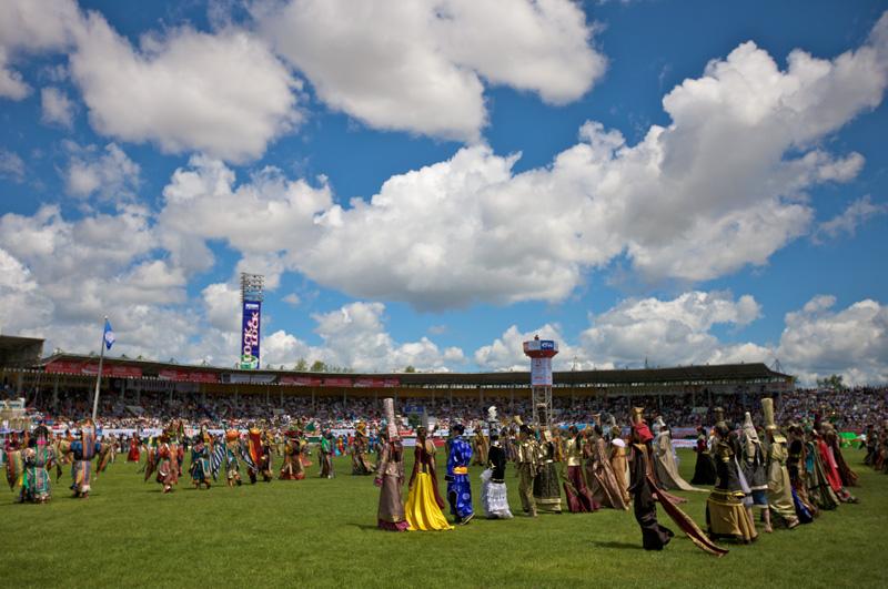 Opening Ceremony of Naadam. Photo credit: Helge Pedersen