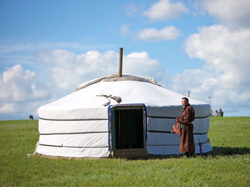 Ger is the Mongolian word for yurt, the portable home of nomads and semi-nomads. Photo credit: Helge Pedersen