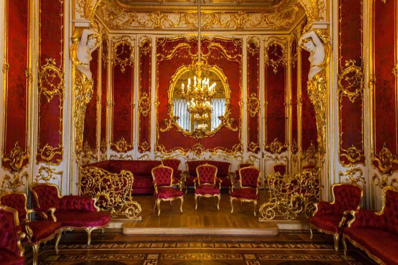 Crimson Room (The Boudoir) in the Hermitage Museum. Photo credit: Jonathan Irish