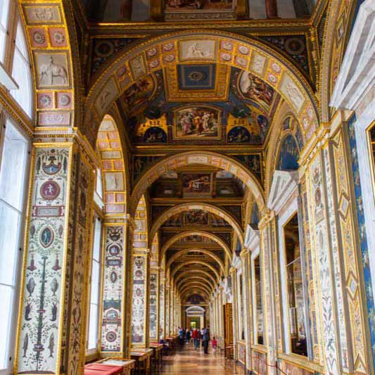 One is surrounded by art walking through the Raphael Loggias gallery in the Hermitage. Photo credit: Jonathan Irish