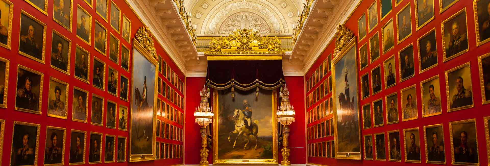 Gallery of military portraits in the Hermitage (St. Petersburg, Russia). Photo credit: Jonathan Irish