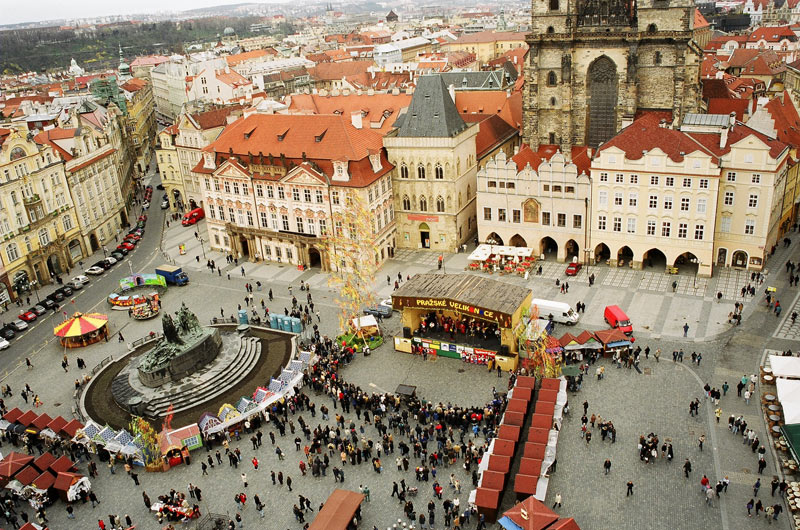 Prague's magnificent Old Town Square. Photo credit: Czechtourism