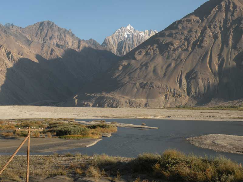 Three countries visible from along the Pamir Highway: Tajikistan, Pakistan and Afghanistan. Photo credit: Jake Smith