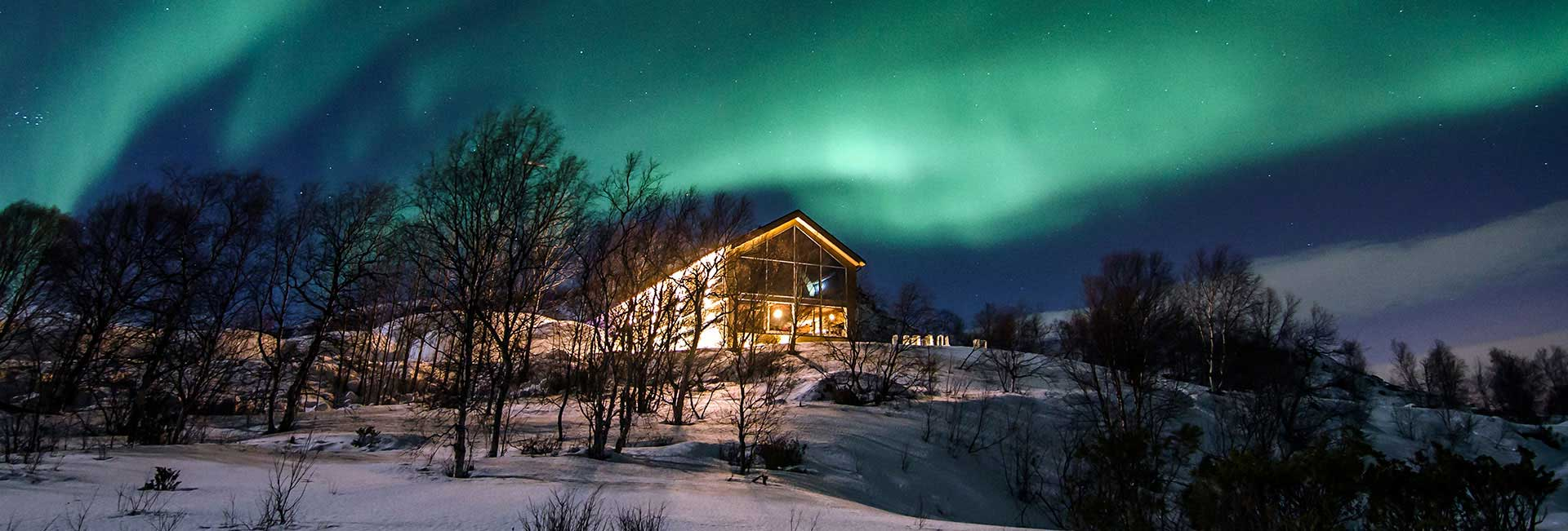 Northern Lights over Snow Hotel in Kirkenes, Norway. Photo credit: Kirkenes Snow Hotel