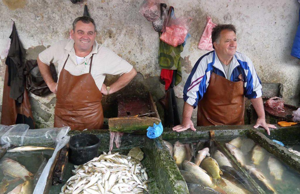 Exploring the market in Shkodra, Albania. Photo credit: Martin Klimenta