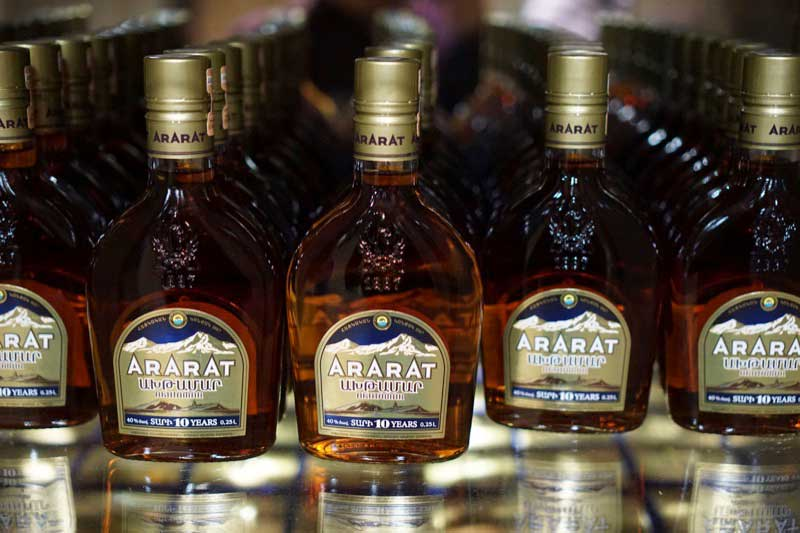 Ararat Brandy has been one of Armenia's top exports since it was first produced in 1887. Photo credit: Jake Smith