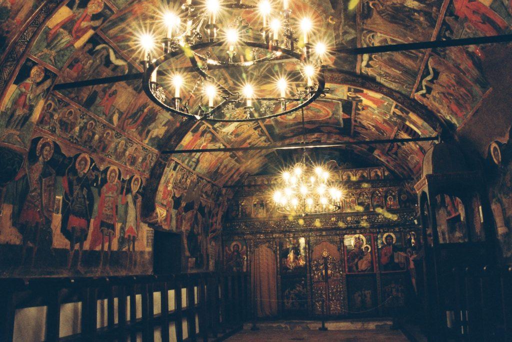 Inside a church in Arbanassi, near Veliko Tarnovo, Bulgaria. Photo credit: Martin Klimenta
