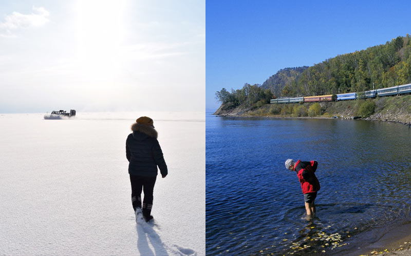 Whether it's winter, spring, summer or fall, you can have fun on Lake Baikal. Photo credit: Douglas Grimes and Martin Klimenta