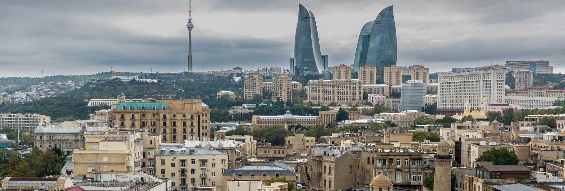 Panoramic view of Baku from Maiden Tower. Photo credit: Jered Gorman