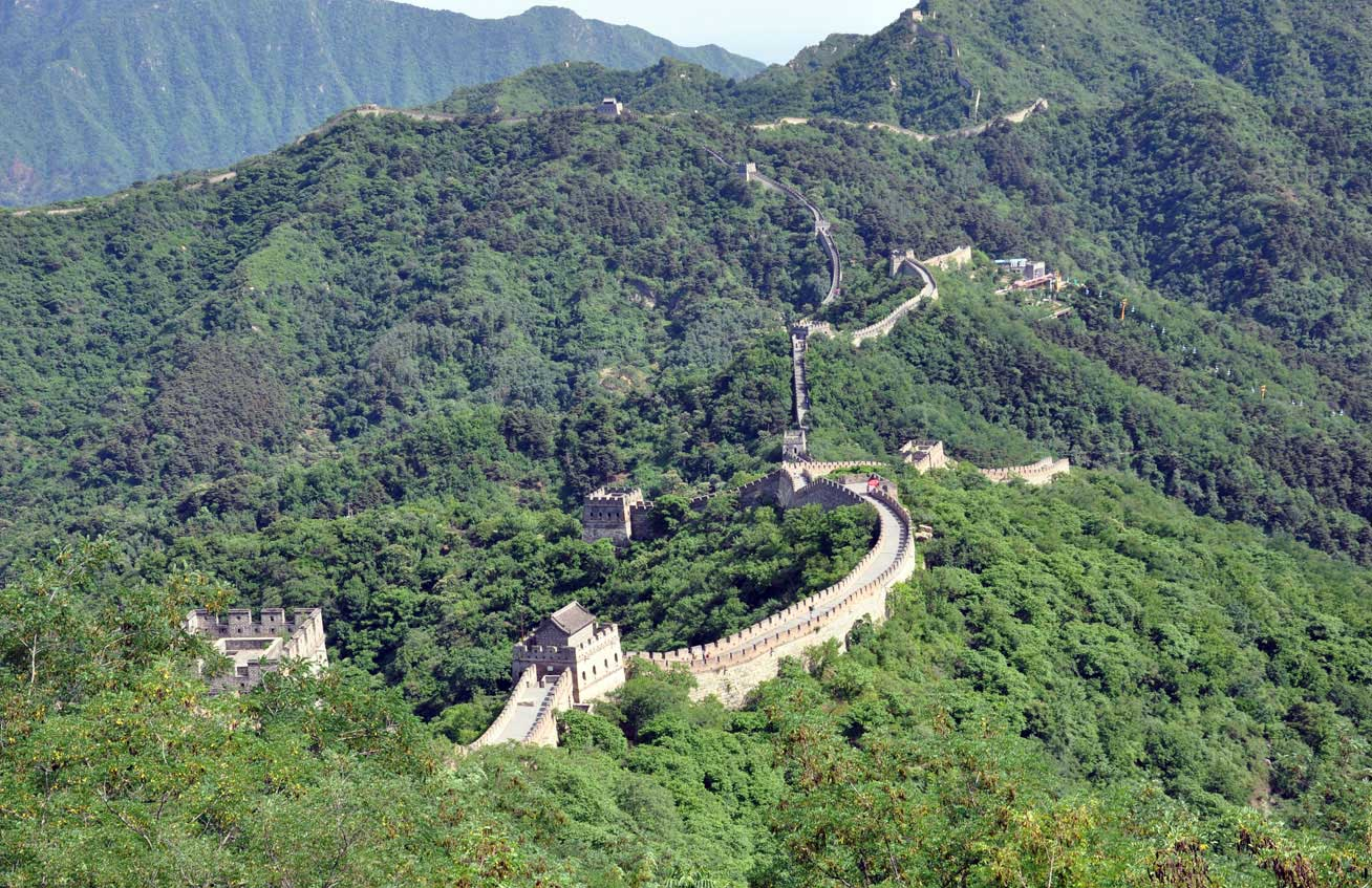 The sprawling, UNESCO-listed Great Wall of China. Photo credit: Russ Cmolik & Ellen Cmolik.