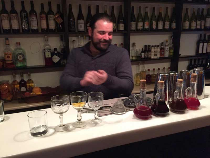 A sommelier hosts a tasting at Azarphesha in Georgia. Photo: John Wurdeman