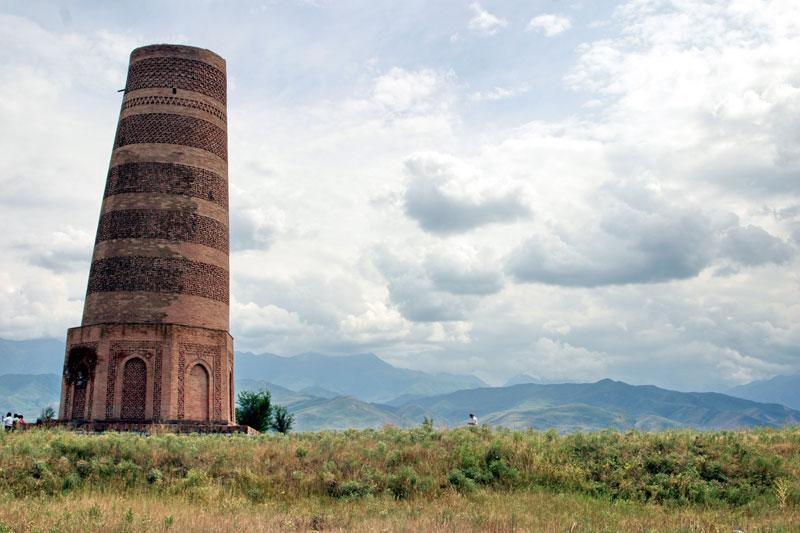 9th century Burana Tower in Kyrgyzstan