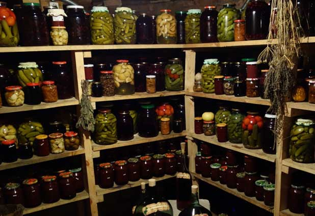 Lucky visitors to a Russian home might taste home-made preserves like pickles, garlic and peppers. Photo credit: John Seckel