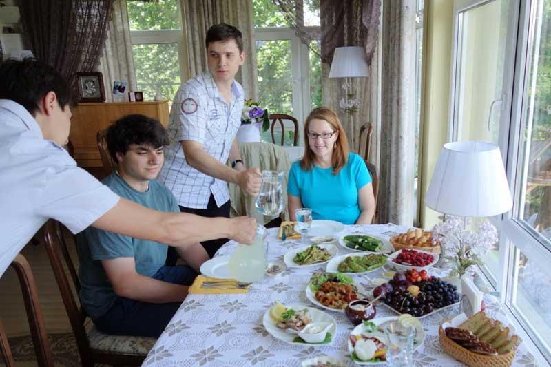 A feast in Plyos. Photo credit: John Seckel